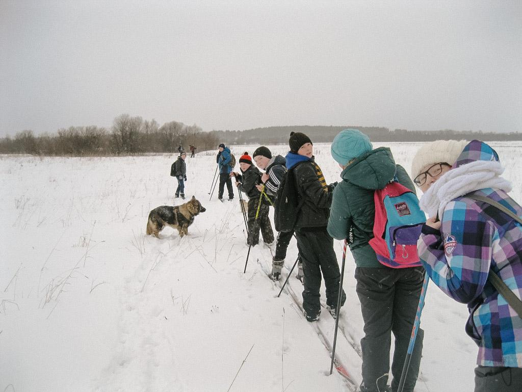 Экологический отряд в зимнем походе