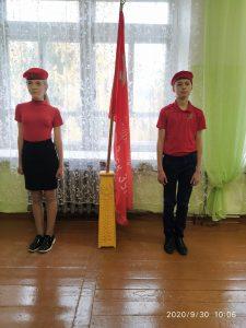 В школе знамя Победы